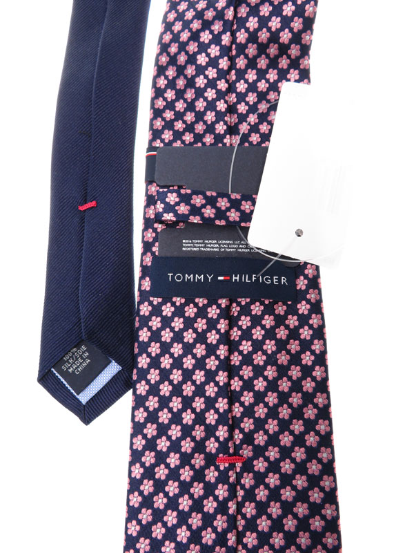 【TOMMY HILFIGER】トミーヒルフィガー『花柄シルクネクタイ』メンズ 1週間保証【中古】