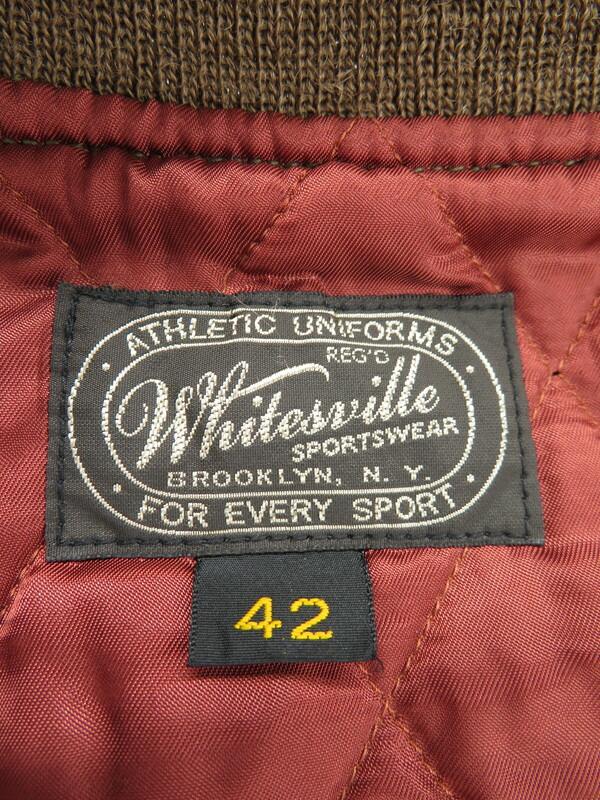 【WHITESVILLE】【アウター】ホワイツビル『レザー切替スタジャン size42』メンズ ジャケット 1週間保証【中古】