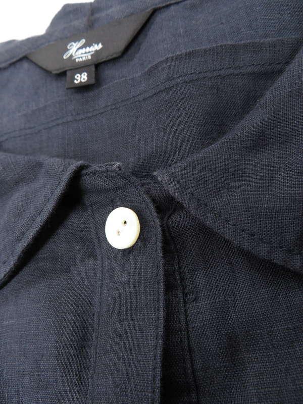 【HARRISS】【トップス】ハリス『半袖リネンシャツ size38』レディース 1週間保証【中古】