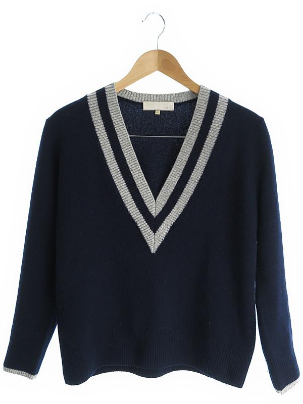【jiyuku】【トップス】自由区『Vネックセーター size38』メンズ ニット 1週間保証【中古】