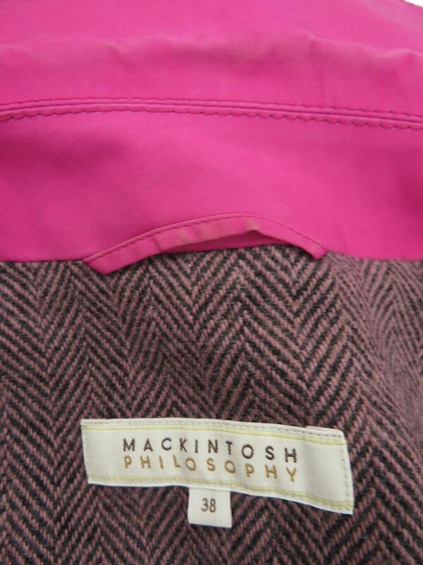 【MACKINTOSH PHILOSOPHY】【アウター】マッキントッシュフィロソフィー『ステンカラーコート size38』レディース 1週間保証【中古】