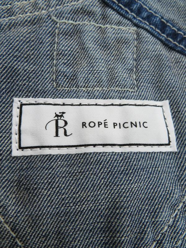 【ROPE' PICNIC×LEE】【コラボ商品】【ボトムス】【デニム】ロペピクニック『テーパードオーバーオール sizeM』レディース オールインワン 1週間保証【中古】