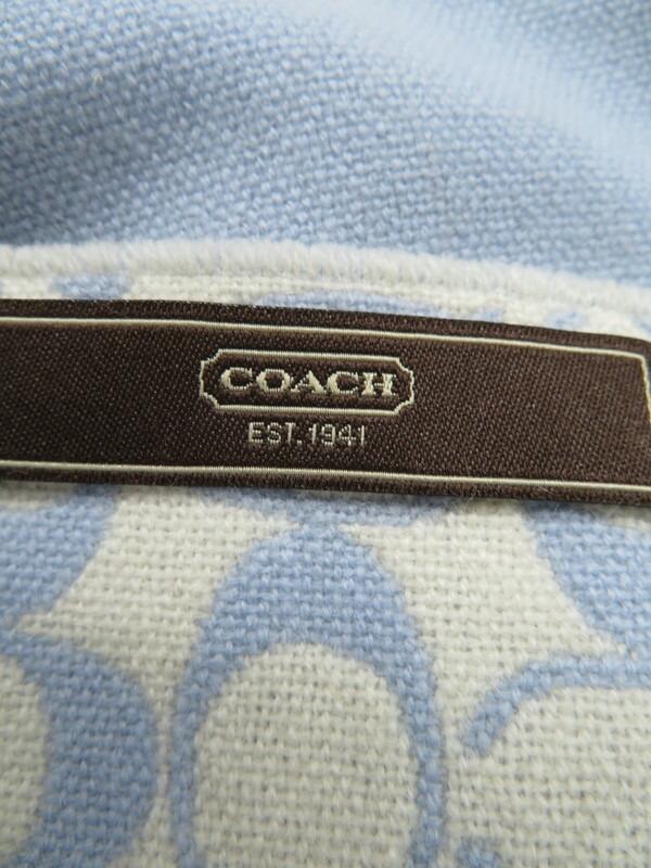 【COACH】【マフラー】【シグネチャー】コーチ『カシミア ウールマフラー』レディース 1週間保証【中古】