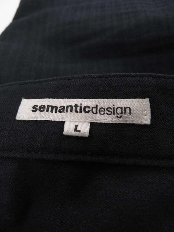 【semanticdesign】【ボトムス】セマンティックデザイン『コットンパンツ sizeL』メンズ 1週間保証【中古】