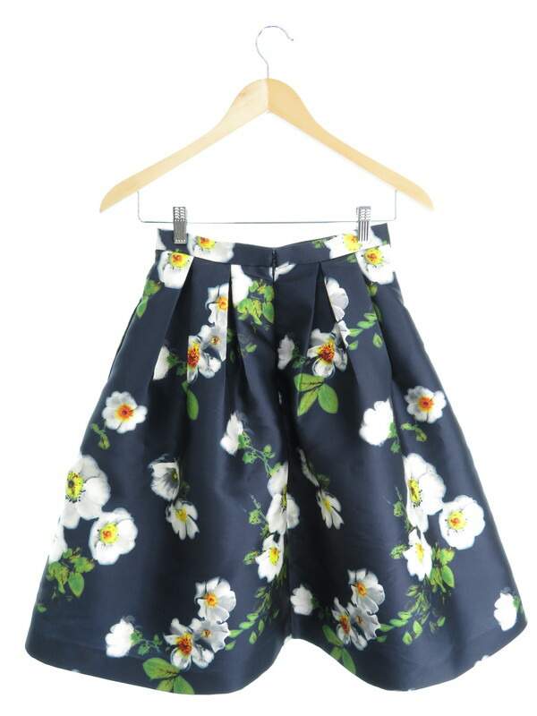 【L'EST ROSE】【ボトムス】レストローズ『花柄フレアスカート sizeM』レディース 1週間保証【中古】