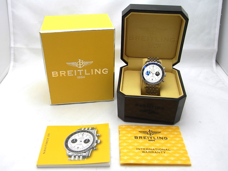 【BREITLING】【日本限定400本】ブライトリング『ナビタイマー』A23330 メンズ 自動巻き 6ヶ月保証【中古】