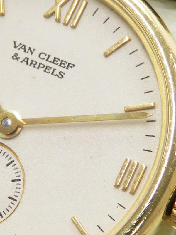 【Van Cleef & Arpels】【電池交換済】【YGケース】ヴァンクリーフ&アーペル『ラウンドウォッチ』レディース クォーツ 1ヶ月保証【中古】