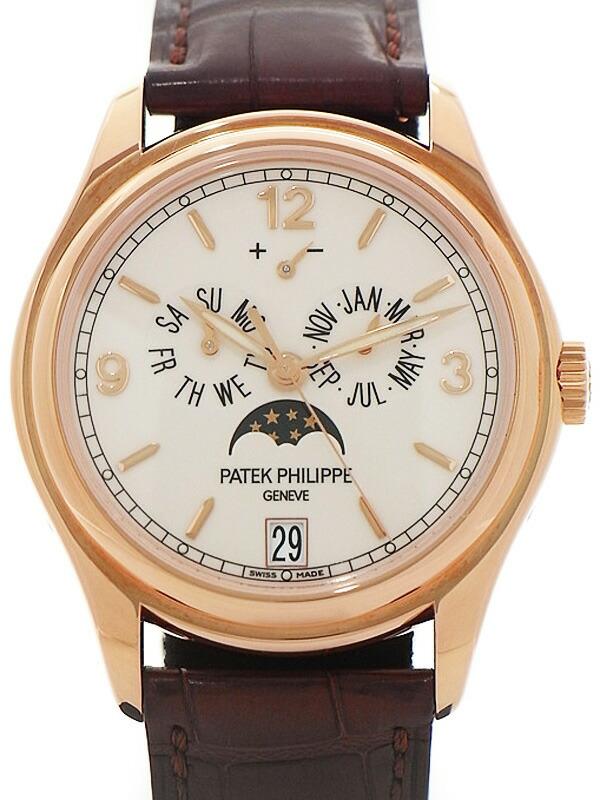 【PATEK PHILIPPE】【年次カレンダー】【PG】【裏スケ】パテックフィリップ『アニュアルカレンダー』5146R-001 メンズ 自動巻き 6ヶ月保証【中古】