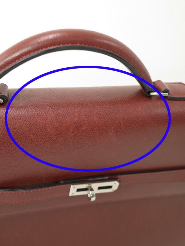 【HERMES】【シルバー金具】エルメス『ケリーデペッシュ34』H刻印 2004年製 メンズ ビジネスバッグ 1週間保証【中古】