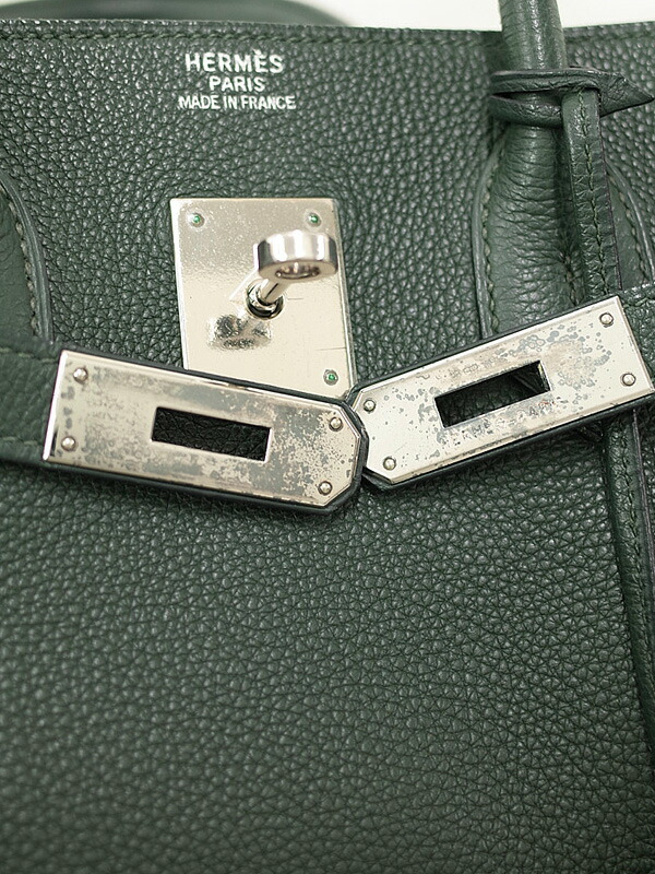 【HERMES】【シルバー金具】エルメス『バーキン35』不鮮明 レディース ハンドバッグ 1週間保証【中古】