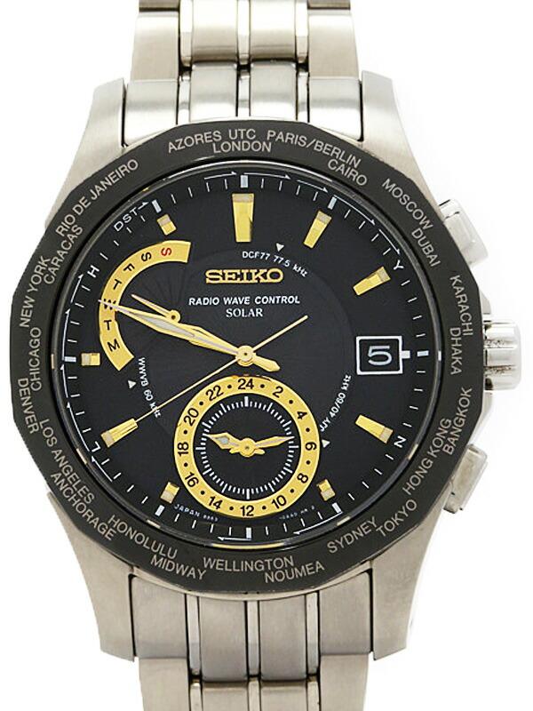 【SEIKO】【BRIGHTZ】セイコー『ブライツ ワールドタイム』SAGA001 メンズ ソーラー電波クォーツ 1週間保証【中古】