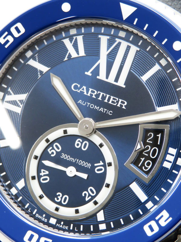 【CARTIER】【'16年購入】【美品】カルティエ『カリブルドゥ カルティエ ダイバー』WSCA0010 メンズ 自動巻き 6ヶ月保証【中古】