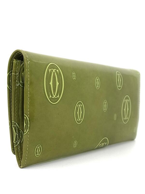 【Cartier】カルティエ『ハッピーバースデイ 二つ折り長財布』L3000957 レディース 1週間保証【中古】