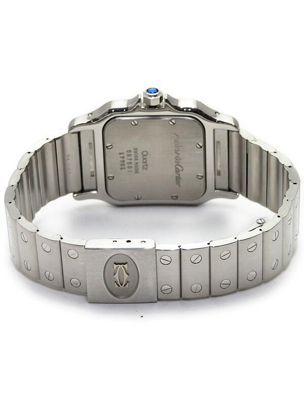 【CARTIER】【OH・電池交換済】カルティエ『サントスガルベLM』W20025D6 メンズ クォーツ 1ヶ月保証【中古】