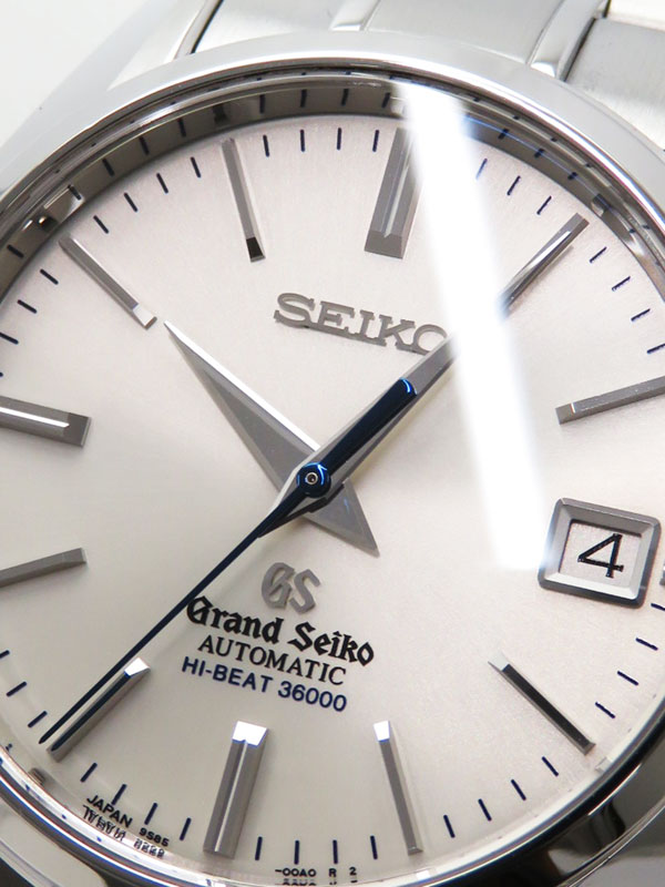 【SEIKO】【GS】【裏スケ】【36000振動】【OH・仕上済】セイコー『グランドセイコー ハイビート』SBGH001 メンズ 自動巻き 6ヶ月保証【中古】