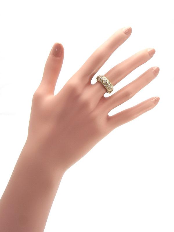 【仕上済】【パヴェダイヤ】セレクトジュエリー『K18YGリング ダイヤモンド1.39ct』9号 1週間保証【中古】