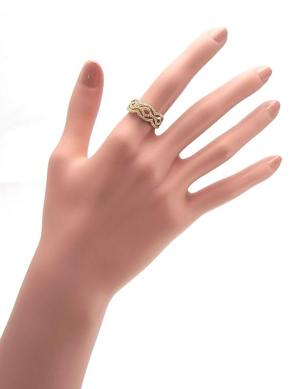 【仕上済】セレクトジュエリー『K18YGリング ダイヤモンド0.50ct』13号 1週間保証【中古】