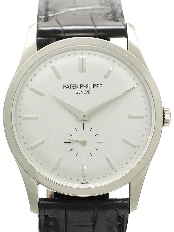 【PATEK PHILIPPE】【WGケース】【美品】パテックフィリップ『カラトラバ』5196G-001 メンズ 手巻き 6ヶ月保証【中古】