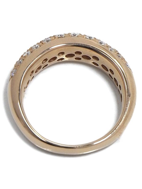 【仕上済】【パヴェダイヤ】セレクトジュエリー『K18PGリング ダイヤモンド0.70ct』10号 1週間保証【中古】