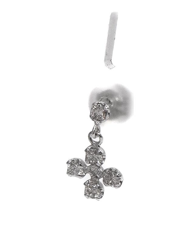 【スタッドピアス】セレクトジュエリー『K18WGピアス ダイヤモンド0.17ct 0.17ct』1週間保証【中古】