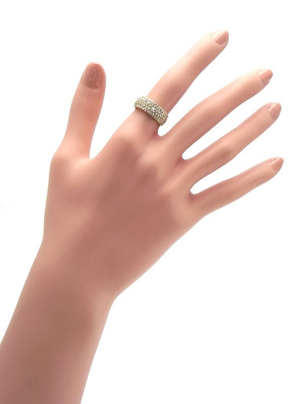 【仕上済】【パヴェダイヤ】セレクトジュエリー『K18YGリング ダイヤモンド1.00ct』12号 1週間保証【中古】