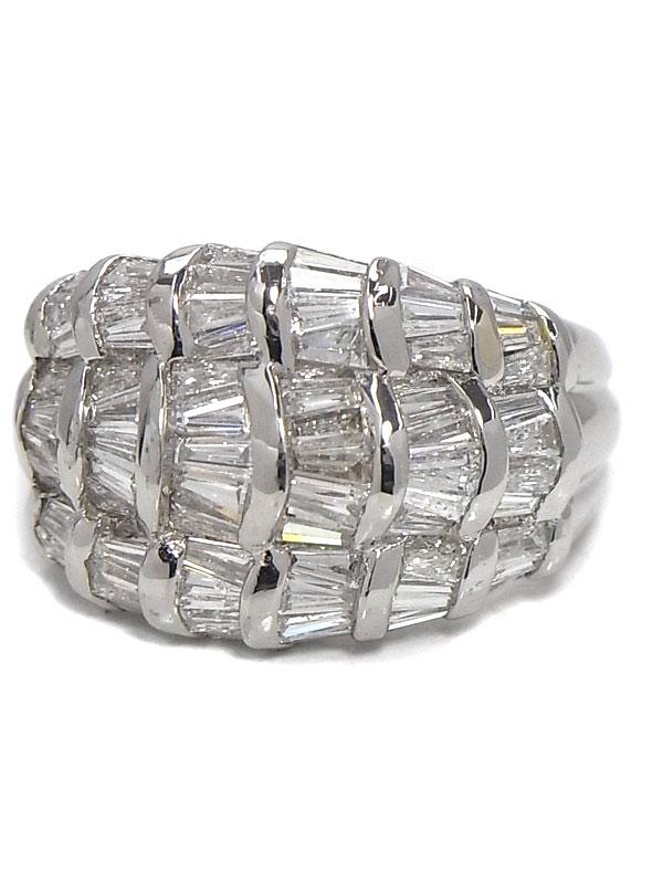 【仕上済】セレクトジュエリー『PT900リング ダイヤモンド2.22ct』12.5号 1週間保証【中古】