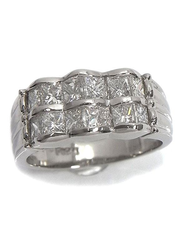 【仕上済】セレクトジュエリー『PT900リング ダイヤモンド1.59ct』11.5号 1週間保証【中古】
