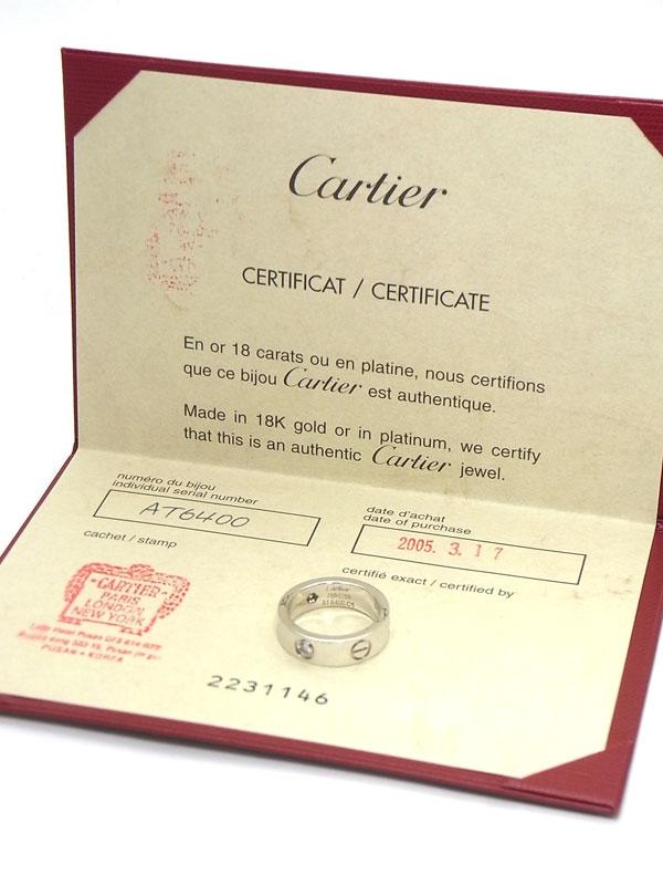 【Cartier】【仕上済】カルティエ『ラブリング ハーフダイヤ』10号 1週間保証【中古】