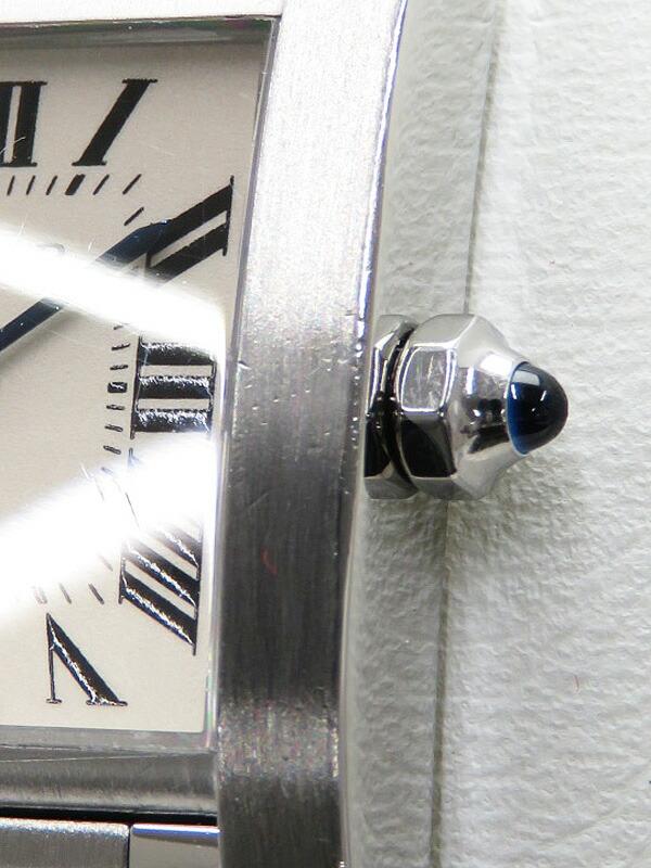 【CARTIER】【電池交換・仕上済】カルティエ『タンクフランセーズSM』W51008Q3 レディース クォーツ 3ヶ月保証【中古】