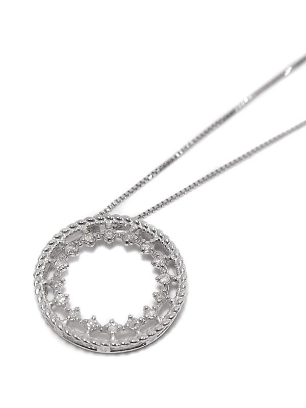 セレクトジュエリー『K18WGネックレス ダイヤモンド0.08ct』1週間保証【中古】
