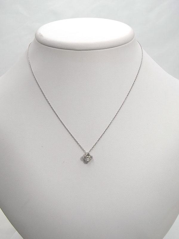 セレクトジュエリー『PT900/PT850ネックレス ダイヤモンド0.30ct フラワーモチーフ』1週間保証【中古】