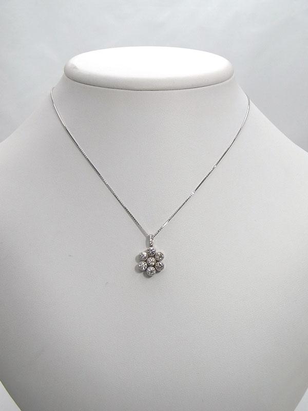 【2Way】セレクトジュエリー『K18WGネックレス ダイヤモンド1.00ct』1週間保証【中古】