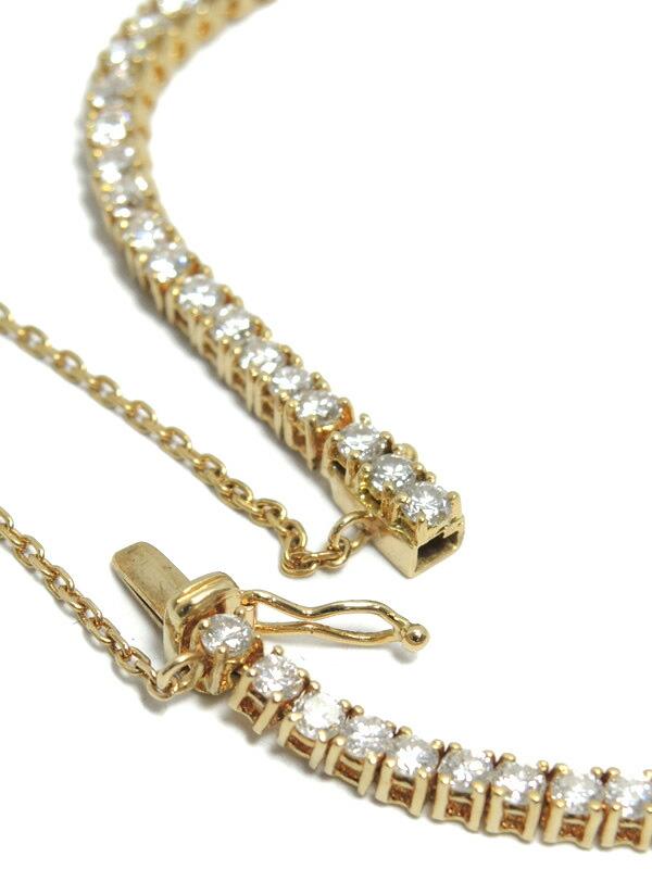 セレクトジュエリー『K18YGブレスレット ダイヤモンド3.00ct テニスブレス』1週間保証【中古】