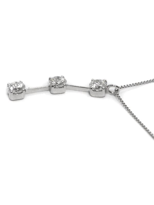 セレクトジュエリー『PT/PT850ネックレス ダイヤモンド0.50ct』1週間保証【中古】
