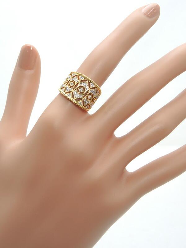 セレクトジュエリー『K18YGリング ダイヤモンド0.35ct』14号 1週間保証【中古】