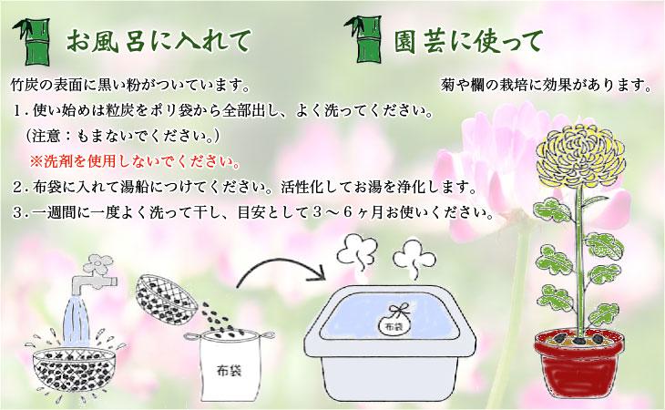 お風呂に入れて 園芸に使って