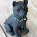 Charcoal real and cute animal figurines ♪ charcoal Shiba Inu