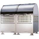 ステンレス製・アルミ製集積ゴミ箱