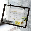 Welcome Board box frame picture frame solid amount B4 and OA size acrylic