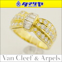 Van Cleef &Arpels Van Cleef & Arpels diamond ring 750 K18 YG yellow gold Japan size approximately 9 issue # 49 VCA women's ring 26871107