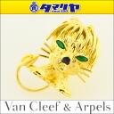 Van Cleef & Arpels Van Cleef & Arpels Emerald lion motif and Onyx stickpin K18 750 YG yellow gold ladies 27160308