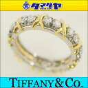 57 TIFFANY&Co Tiffany 18P ダイヤジーンシュランバーゼーリング Pt950 platinum 750 K18 yellow gold Japan size approximately 17 # ring Lady's 2619024
