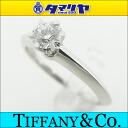 TIFFANY&Co Tiffany diamond (D0.27ct F-VVS2-EX) sled tail ring Pt950 platinum ring Japan size approximately nine #49 Lady's 26290406