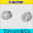 TIFFANY&Co Tiffany Lucida ルシダダイヤ (1.00ct D-VVS1/1.00ct E-VVS1) pierced earrings PT950 platinum used pierced earrings 2504105)