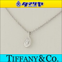 TIFFANY&Co Tiffany diamond visor yard pair shape pendant necklace Pt950 platinum Elsa ペレッティレディース 25831003