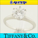 TIFFANY&Co Tiffany diamond (D1.55ct H-VS2) setting ring Pt950 platinum ring Japan size approximately 11 #51 Lady's 25981207
