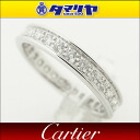 750 Cartier/ カルティエエタニティパヴェダイヤリング Japan size approximately 11 #51 K18 WG white gold Lady's rings 26430514