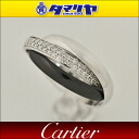 Cartier Cartier Trinity diamond black & white ring SM 750 K18 WG white gold ceramic Japan size approx. 10 ring item # 50 triple 26801002