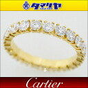 Cartier Cartier diamond ( D1.55ct) claw set eternity ring 750 K18 YG yellow gold Japan size 9 # 49 classic full diamond women 26760916