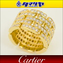 Cartier Cartier Fordia Maillon Panther ring 750 K18 YG yellow gold Japan size 14 issue # 54 5 pavé diamonds women 26851111